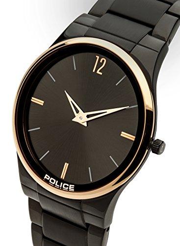97d7285b80cf Police Men s Black Stainless Steel Bracelet Watch  Amazon.co.uk  Watches