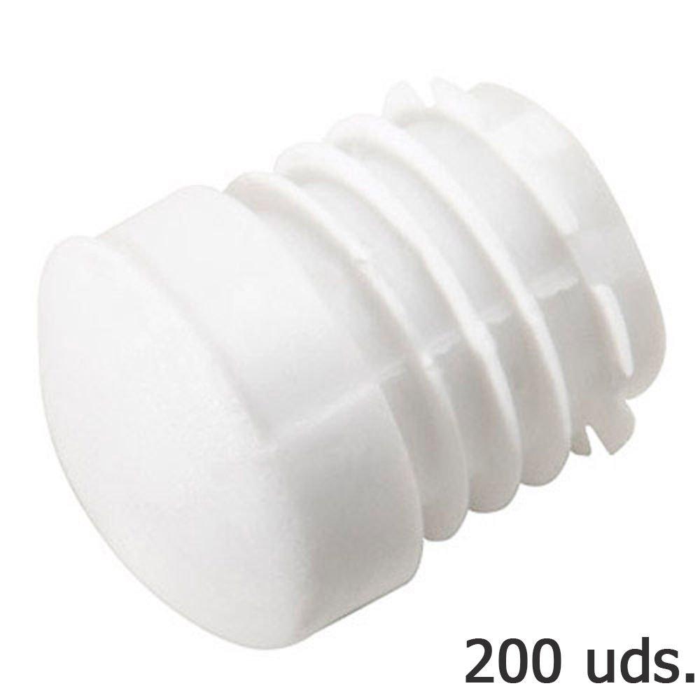 Wolfpack 5330406 Pack de 200 conteras Redondas para Interior (plá stico, 22 mm) Color Blanco
