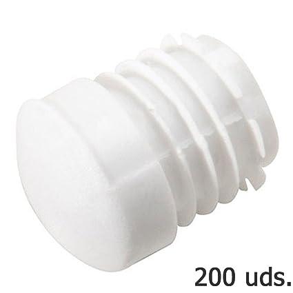 Wolfpack 5330410 Contera Plastico Redonda Interior Blanca 25 Mm Bolsa 200 Unidades, Set Piezas
