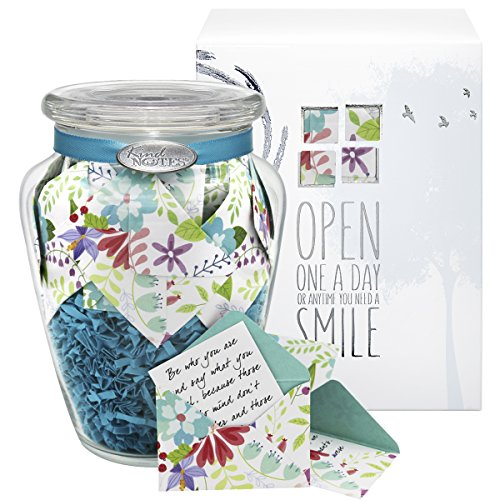 Glass KindNotes SYMPATHY Keepsake Gift Jar of Messages for Condolences, Bereavement, Passing, Loss, Funerals - Fresh Cut Floral