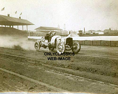 OnlyClassics 1908 Brighton Beach Speedway AUTO Racing 8X10 Photo INDY 500 Racer New York Dirt Track