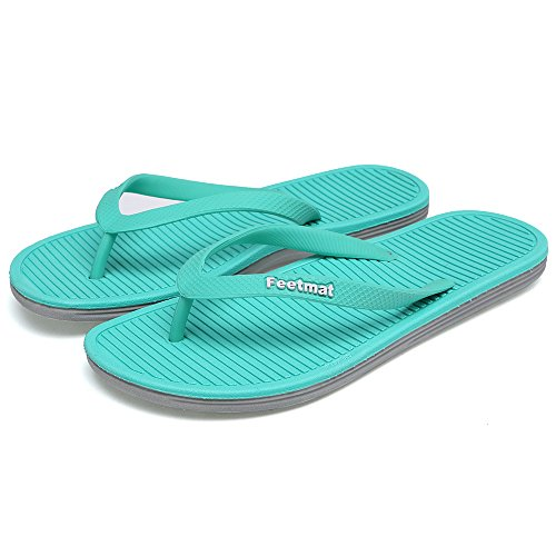 Slip Flop Non Beach Men's Flip Feetmat Sandals Blue Grey Summer Lightweight Slippers x7wta