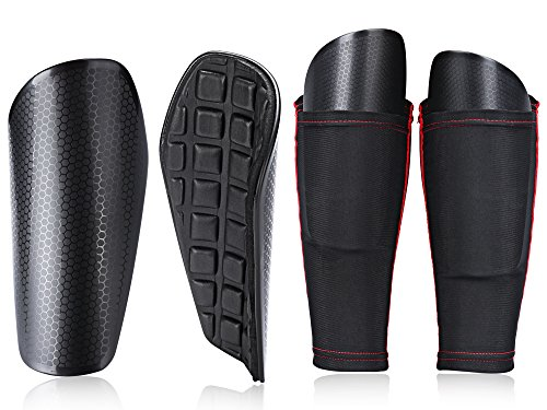 TAGVO Soccer Shin Guards Youth with Pocketed Compression Calf Sleeves, Kids Soccer Equipment Youth Sizes Performance Soccer Shin Pads for Boys Girls by TAGVO