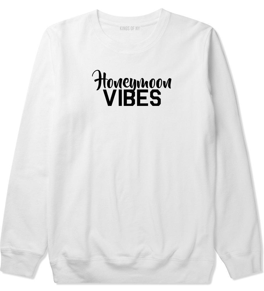 Honeymoon Vibes Wedding Mens Crewneck Sweatshirt XXX-Large White