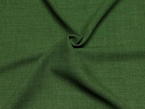Poly Wool Crepe Suiting Dress Fabric Green - per metre