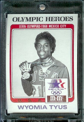 1984 Topps M&M # Wyomia Tyus Track and Field 100 Meter Sprint Olympic Heroes Trading Card Mint Condition In Screwdown Case