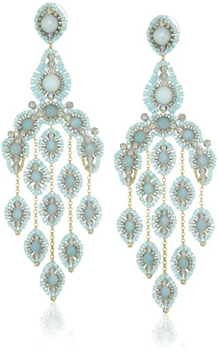 Miguel Ases Gold-Filled Amazonite Cascading Drop Earrings by Miguel Ases