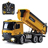 Top Race Remote Control Construction Dump Truck, RC Dump Truck Toy, Construction Toys Vehicle, RC...