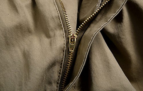YangguTown YGT Men's Elastic Waist Cleaning Cargo Pants Lightweight Cotton Workwear-closure