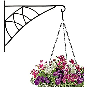 Amagabeli Hanging Plants Bracket 14u0027u0027 Wall Planter Hook Flower Pot Bird  Feeder Wind Chime
