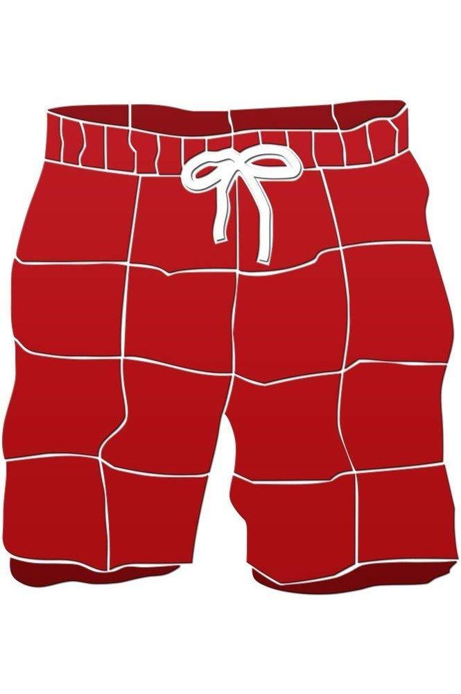 Swim Trunks Ceramic Swimming Pool Mosaic (20'' x 18'', Red)