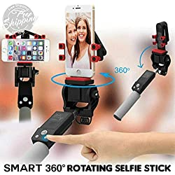 succeedtop Extendable Selfie Stick,360 Rotating RC Selfie Stick Extendable Smart Cam Anti-Shake Monopod (White)