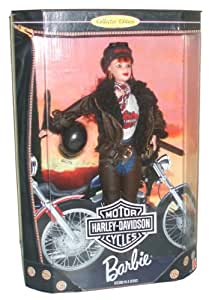 Barbie Year 1998 Motorcycles Harley-Davidson 2nd In A Series 12 Inch Doll Set with Barbie Doll, Jacket, Shorts, Chaps, T-Shirt, Belt, Scarf, Boots, Cap, Helmet, Satchel, Sunglasses, Doll Stand and Certificate of Authenticity