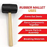 Rubber Mallet 8 oz, Hardwood, Double Faced Soft