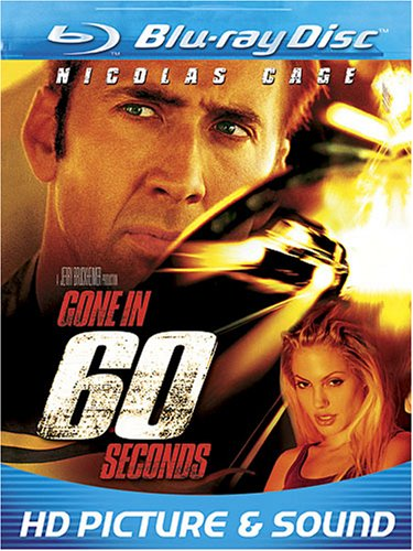 Gone in 60 Seconds (2000) [Blu-ray] Nicolas Cage Giovanni Ribisi Angelina Jolie T.J. Cross