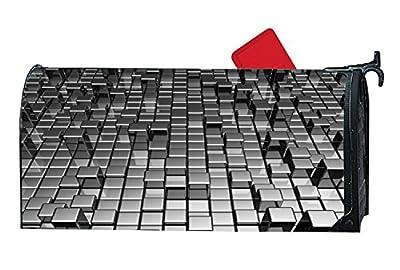 XPNiao Magnetic Garden Yard Mailbox Cover 3d Gray Metallic Luster Cube