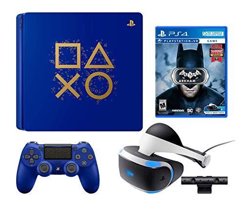 Playstation 4 Batman Arkham VR PSVR Enhanced Limited Edition Bundle: Playstation 4 Days of Play Lmited Edition 1TB Console, Batman Arkham VR, Playstation VR Headset and PSVR Camera