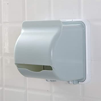 DIAOSI Cezhijia Caja de pañuelos de Papel higiénico de baño Libre de Perforaciones Rollo de Papel