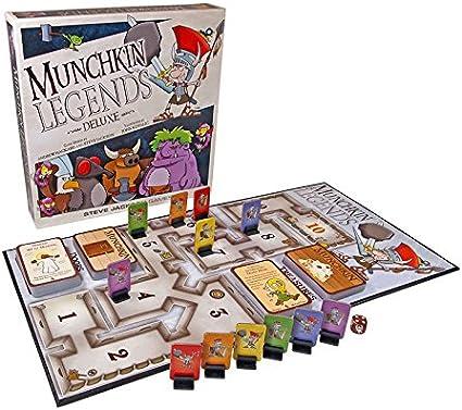 Steve Jackson Games Juego de Cartas Munchkin Legends Deluxe New Edition (Idioma español no asegurado): Amazon.es: Juguetes y juegos