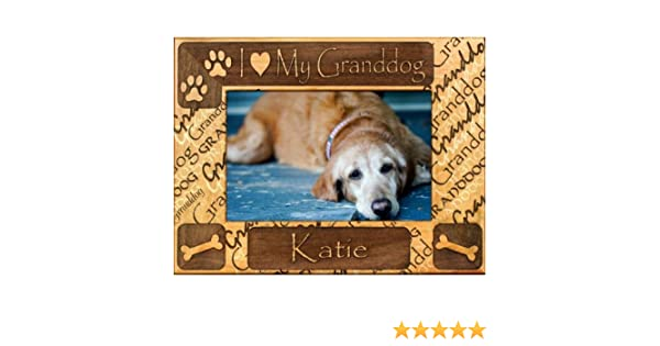 Amazoncom Personalized I Love My Granddog Dog Picture Frame