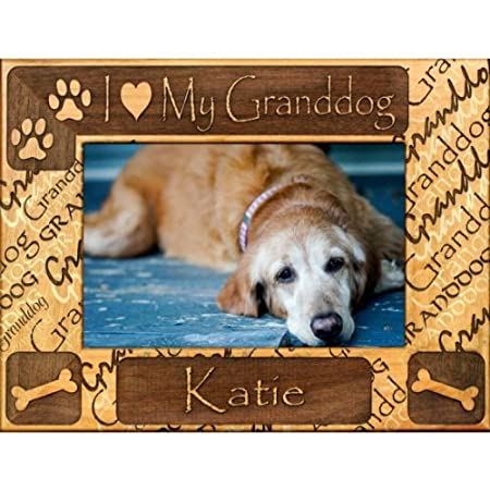 Personalized I Love My Granddog Dog Picture Frame Amazoncouk