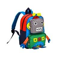 Kids Backpack Kindergarten Cartoon Schoolbag Robot (Green)