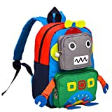 TeMan Kids Backpack Kindergarten Cartoon Schoolbag Robot (Green)