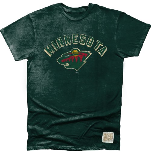 Nhl Minnesota Wild Mens Cotton Oil Wash Tee  Large  Green