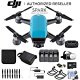 DJI Spark Fly More Combo (Sky Blue) CP.PT.000902 + 4 Battery Bundle