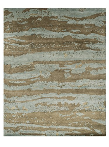 2' x 3' Rectangular Loloi Accent Rug HERMHE-12AQLT2030 Aqua/Latte Color Handmade in India ''Hermitage Collection'' by RugPal