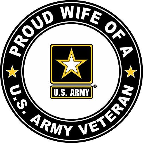 (Military Vet Shop U.S. Army Veteran Proud Wife Window Bumper Sticker Decal 3.8