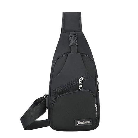 Men/'s Shoulder Bag Sling Chest Pack Canvas Outdoor Sports Crossbody Handbag US