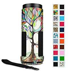 Fintie Protective Case for Amazon Echo - Premium Vegan Leather Cover Sleeve Skins (Upgraded Edition), Love Tree