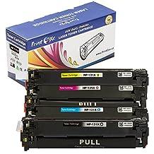 PrintOxe™ Compatible Set for 131X of 4 High Yield Laser Toner Cartridges 131A ; Black CF210X , Cyan CF211A , Yellow CF212A & Magenta CF213A for HP Printer Models: LaserJet Pro Color M251n , M251nw , MFP M276n , M276nw & Pro 200 . Sold by PanContinent