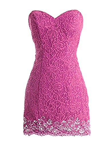 Low Party Kleider Spitzen Damen Fanciest Fuchsia Mint High Kleider Homecoming Kurz Ball xpTT18Ew