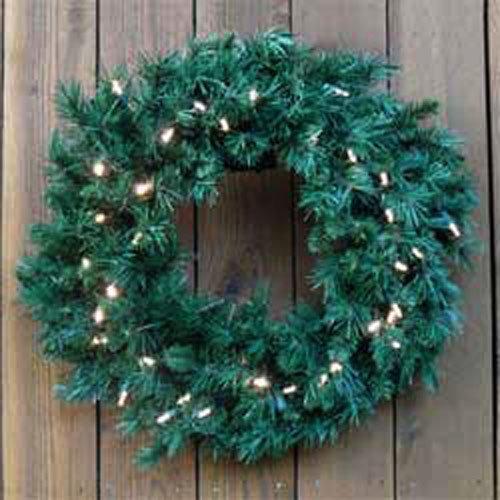 24 Inch Princess Mixed Pine Pre Lite Wreath [447329C]
