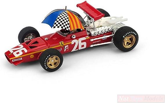 FERRARI 312 F 1 J.ICKX 1968 N.26 WINNER FRANCE GP DRIVER UMBR.1:43 FORMULA