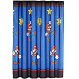 """Nintendo """"Super Mario Simply The Best"""" Microfiber Shower Curtain, 70 by 72-Inch"""