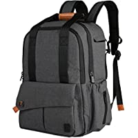 Ferlin Diaper Bag Designer Backpack with Insulated Pockets-Changing Pad (Gray)