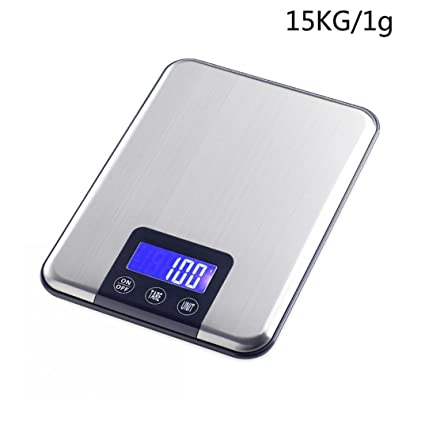 STRIR Báscula Digital para Cocina de Acero Inoxidable,15KG/1g, Balanza de Alimentos