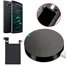 Bessky® Qi Wireless Charger Charging Pad + Receiver Sticker Support NFC for LG V10
