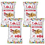 Taali Sriracha Spice Water Lily Pops (4-Pack) - Spicy Flavor with a Little Kick | Protein-Rich Roasted Snack | Non GMO Verified - 2.3 oz Multi-Serve Bags