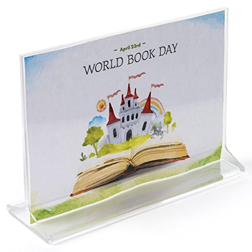 7 x 5 x 2-Inch, Clear Acrylic Horizontal Picture Frame – Sold in Case Packs of 20 Units – With Polished Edges, For Tabletop (Horizontal Unit)