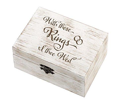 Lillian Rose Rustic Wedding Rings & Vows Box, Multicolor