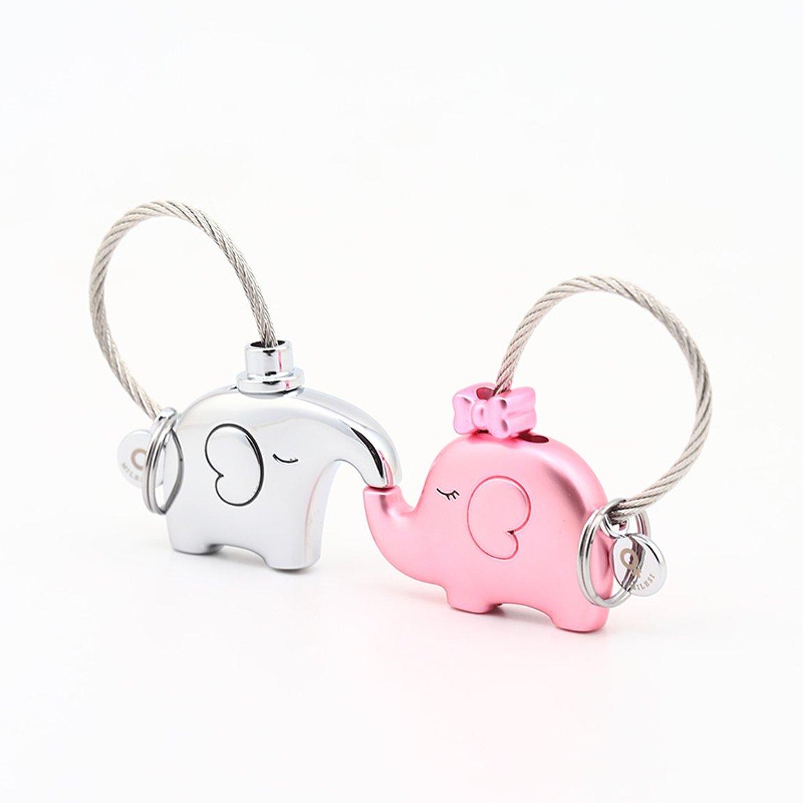 LXYFMS Paar Schlüsselbund Creative Car Keychain Handtasche Anhänger Schlüsselbund