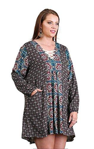 Twin Print Knit Dress - 7