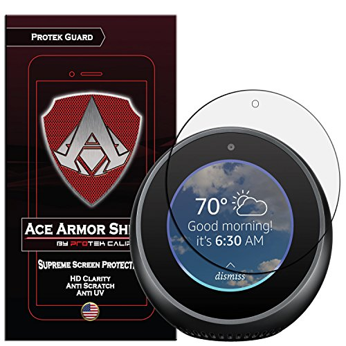 Amazon Echo Spot (2-Pack) Ace Armor Shield Screen Protector Clear Anti-Scratch Bubble free Shield with free lifetime - Shield Spot