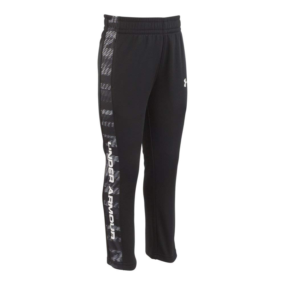 Under Armour Boys' Toddler Fleece Pant, Black Travel, 4T by Under Armour