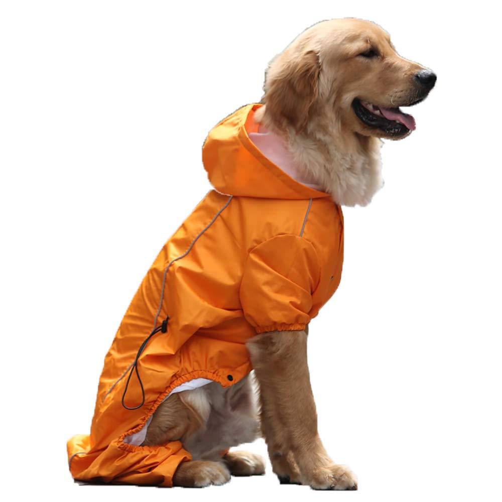 orange Medium orange Medium Large Dog Four-Legged Pet Raincoat, Kimmausamo Big Dog Waterproof Raincoats Pet Clothes,orange,M