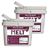 Snow Joe Beet It Snow and Ice Melter w CMA & Beet Extract 25 Lbs Bucket (2 Pack)